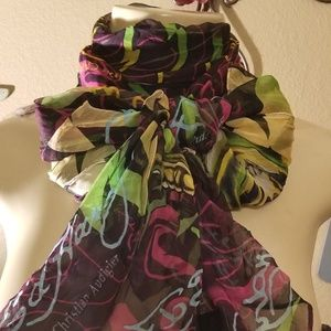 Ed Hardy Silk Scarf\Oblong Lenght Retro